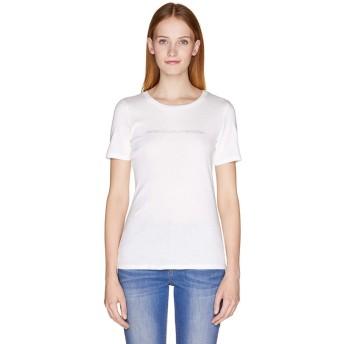 (BENETTON (women)/ベネトン レディース)ロゴクルーネック半袖Tシャツ・カットソー/レディース ホワイト