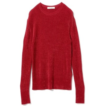 (BEAMS OUTLET/ビームス アウトレット)Demi-Luxe BEAMS / モール リブクルーニット/レディース RED