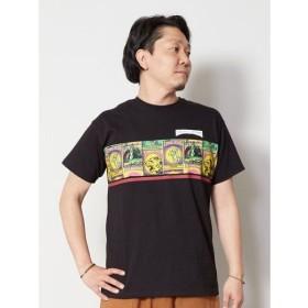 (CAYHANE/チャイハネ)【チャイハネ】マッチ箱プリントメンズTシャツ CAS-9150/メンズ ブラック