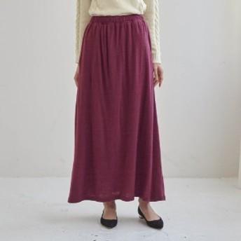 裏フリースパンツ付きカットソーロングスカート