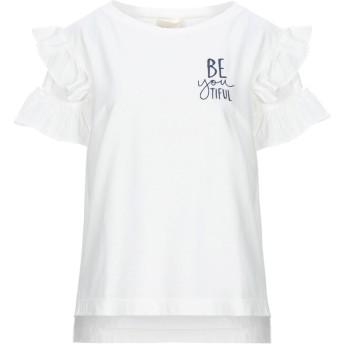 《セール開催中》SEMICOUTURE レディース T シャツ ホワイト XL コットン 100%