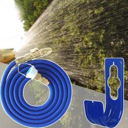 新改良防爆金屬高壓彈力水管組+水管收納掛勾