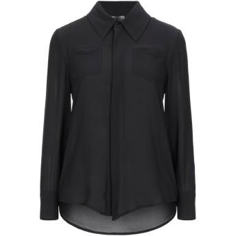 《セール開催中》NUALY レディース シャツ ブラック 38 ポリエステル 100%
