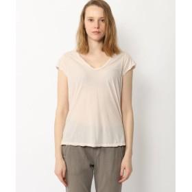 (JAMES PERSE/ジェームス パース)ハイゲージ VネックTシャツ WEK3182/レディース 32ピンク系