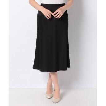(LAPINE BLANCHE/ラピーヌ ブランシュ)ミッションダブルジョーゼット スカート/レディース ブラック