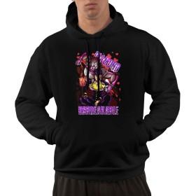 Jaksonaturn ジョジョの奇妙な冒険 メンズ パーカー スウェット プルオーバー おしゃれ ファッション 長袖 ポケット付き プレゼント&ホリデーギフト アンダーテール JoJo Bizarre Adventure XXL