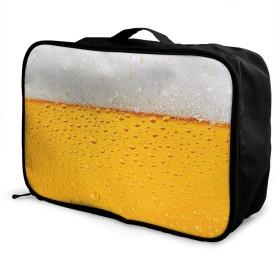 黄金のビール バブリング カクテル ビール愛好家 キャリーオンバッグ 旅行バッグ/大容量/トラベルバッグ/レディース メンズ兼用 旅行バッグ/軽量/収納バッグ/旅行用品/機内持ち込み