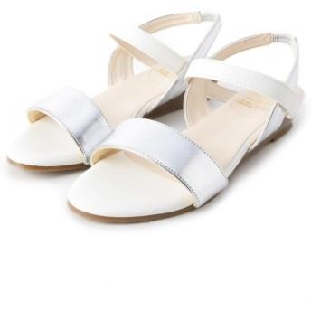 (pink adobe/ピンクアドベ)<日本製>歩きやすくて、汚れにくい 優秀サンダル/レディース シルバー&ホワイト(106)