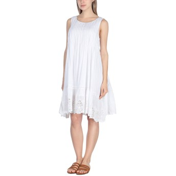 《セール開催中》ICONIQUE レディース ビーチドレス ホワイト S コットン 100%