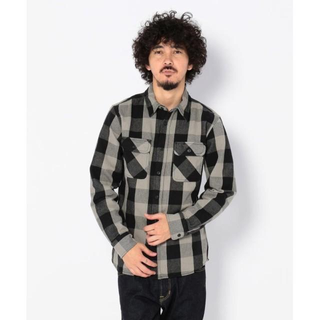 (AVIREX/アヴィレックス)AVIREX/アヴィレックス/デイリー フランネル ブロックチェックシャツ/FLANNEL BROCK CHECK SHIRT/メンズ GREY