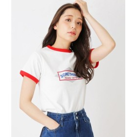(grove/グローブ)SOMETHING Tシャツ/レディース アイボリー(004)