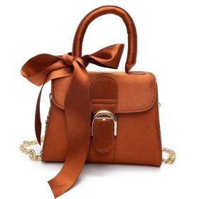 ショルダーバッグ 女性のメッセンジャーバッグスクエアスカーフ財布Shouldbagハンドバッグクロスボディサッチェルバッグクロスボディバッグ小さなハンドバッグ財布用パーティーショッピング旅行毎日のデイパック 大人 カジュアル シンプルデザイン (Color : Brown)