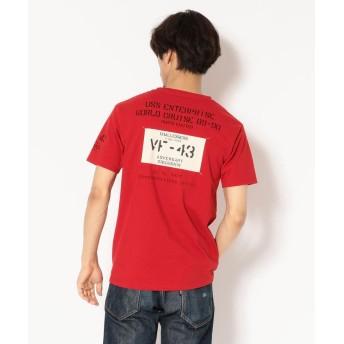 (AVIREX/アヴィレックス)【直営店限定】AVIREX/アヴィレックス/半袖 パッチド クルーネック Tシャツ/PATCHED CREW NECK T-SHIRT/メンズ RED