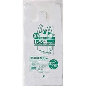 【お買得】ジャパックス 業務用レジ袋 【東日本80号 西日本80号】半透明 0.030mm 500枚 100枚×5冊入 ポリ袋 RKK80
