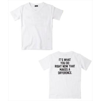 (GLAZOS/グラソス)フライスバックプリント半袖Tシャツ/ ホワイト