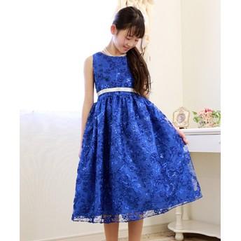 (Little Princess/リトルプリンセス)子供ドレス 008033/ ブルー