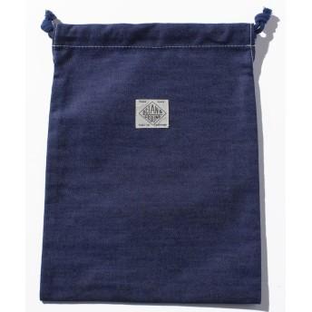 (OCEAN&GROUND/オーシャンアンドグラウンド)巾着中 BLUE BLUE/ インディゴ