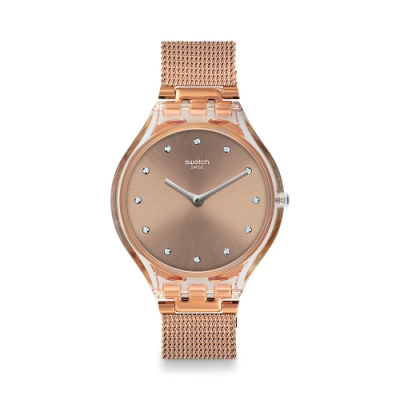 Swatch SKIN超薄系列 SKINDESERT 超薄手錶-沙金-36.8mm