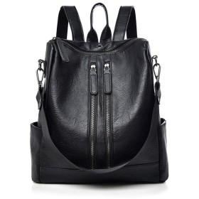 バックパック 女性のバックパックPUレザーファッションバックパック旅行カジュアル取り外し可能な可逆女性ショルダーバッグ女性のカジュアルバックパック 軽量ファッションバッグ (Color : Brown, Size : Free size)