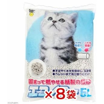 スーパーキャット エコノミー 5L 8袋入り 猫砂 紙砂 流せない 燃やせる お一人様1点限り (猫 トイレ)