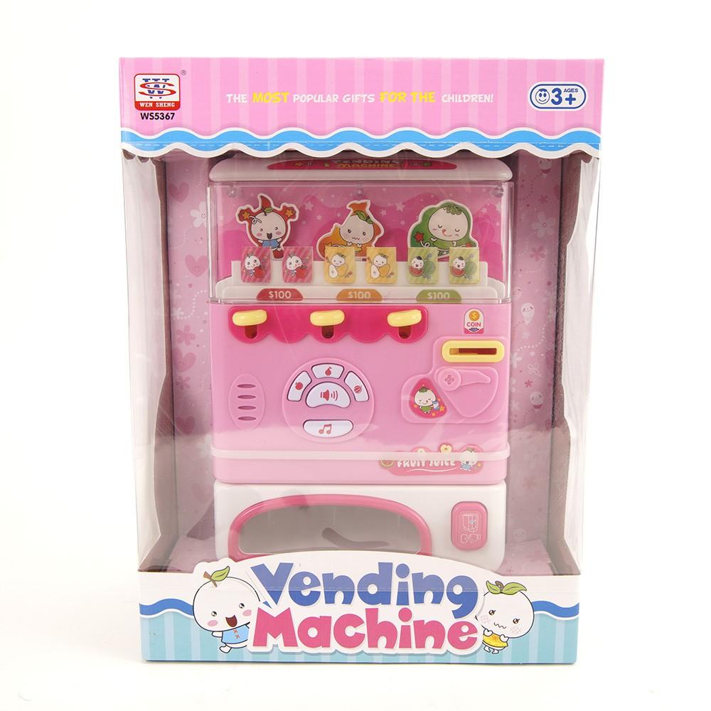 【兒童玩具】自動飲料販賣機 粉色款 WS5367