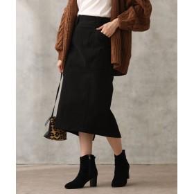 (Gready Brilliant/グレディブリリアン)綿起毛タイトスカート/レディース ブラック