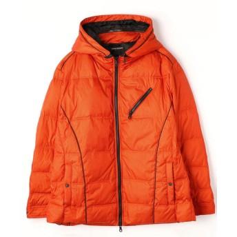 (HIDEAWAYS NICOLE L/ハイダウェイニコルエル)<大きいサイズ>切り替えダウンジャケット/メンズ 10オレンジ
