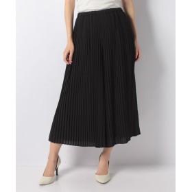(LAPINE BLANCHE/ラピーヌ ブランシュ)スカート風シフォンプリーツパンツ/レディース ブラック