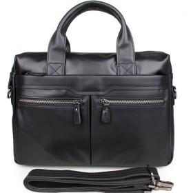 メンズブリーフケース ポータブルヴィンテージレザーブリーフケース品質briefcase14ラップトップショルダーメッセンジャーサッチェルバッグオーガナイザーブラック 通勤、出張、出張に最適です