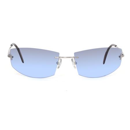 【EXTe】義大利漸層透明感造型框太陽眼鏡(藍)EX64S-2M1