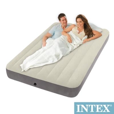 INTEX 雙人植絨充氣床墊 寬137cm 64102