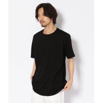 (B'2nd/ビーセカンド)MINOTAUR(ミノトール)EXTRA FAIN ポケットクルーTシャツ/メンズ BLACK
