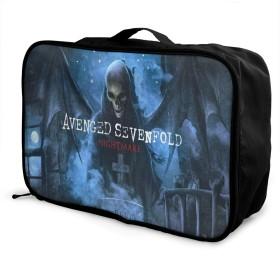 旅行用収納バッグ ヨーロッパとアメリカの音楽Avenged Sevenfold タウンリュック、持ち運びが簡単、人気のハンドバッグ 日常の保管袋、ハンドバッグ、出張用の荷物袋などに使用できます。