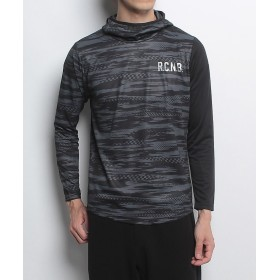 (Number/ナンバー)ナンバー/メンズ/長袖フードシャツ/メンズ カモブラック/ブラック