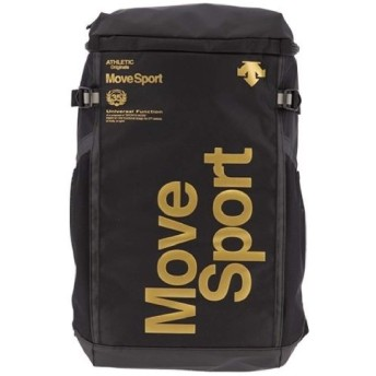 リュックサック バッグ オリジナルデザイン デサント DESCENTE MoveSport スクエア バックパック 30L メンズ レディース スポーツ/DMAPJA04AW ((BKGD)ブラック/ゴールド)