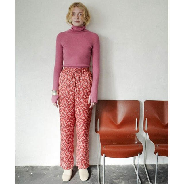 (CLANE/クラネ)PETIT FLOWER WIDE PANTS/レディース RED