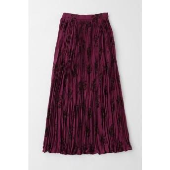 (moussy/マウジー)BRUSHED ROSE PLEATS スカート/レディース PUR