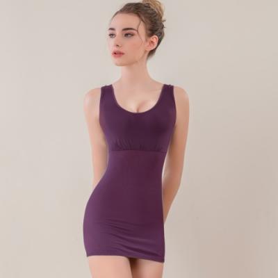【可蘭霓Clany】寬肩輕機塑身M-3XL美體衣 華麗紫