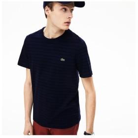 (LACOSTE Mens/ラコステ メンズ)チョークボーダークルーネックTシャツ/メンズ ネイビー