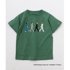 (SHIPS KIDS/シップスキッズ)SHIPS KIDS:<パパとおそろい>【THE BEATLES(ザ・ビートルズ)】TEE(145~160cm)/レディース グリーン