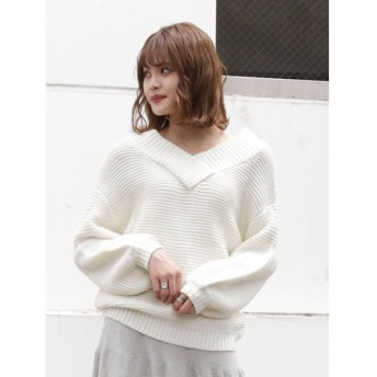 (dazzlin/ダズリン)【sw】2WAYゆるトップス/レディース ホワイト