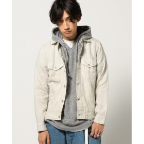 (BEAMS OUTLET/ビームス アウトレット)BEAMS / リネン Gジャケット/メンズ OFFWHT