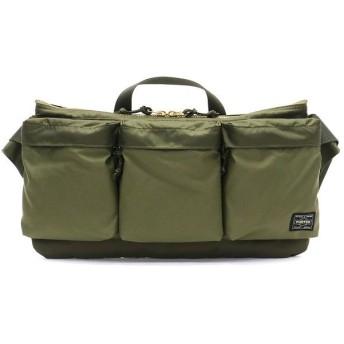 (PORTER/ポーター)吉田カバン ポーター ウエストバッグ PORTER FORCE フォース WAIST BAG ウエストポーチ 日本製 855-05460/ユニセックス オリーブ