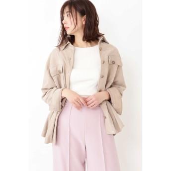 ジル スチュアート JILLSTUART モリースエードシャツジャケット BEIGE FR【税込10,800円以上購入で送料無料】