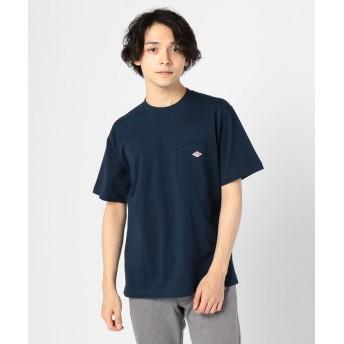 (GLOSTER/グロスター)【DANTON/ダントン】ポケット付Tシャツ JD-9041/メンズ ネイビー