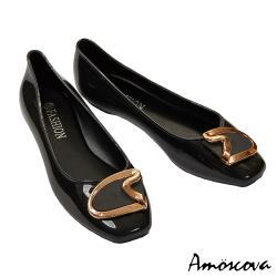 【Amoscova】經典不規則造型圓頭雨鞋318