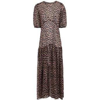 《セール開催中》NEVER FULLY DRESSED レディース ロングワンピース&ドレス ライトブラウン 8 ポリエステル 100%