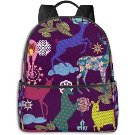 クリスマスと新年 コンピュータバックパック大容量 リュック メンズ レディース 通学 通勤 おしゃれ 可愛い カジュアル 旅行 バックパック