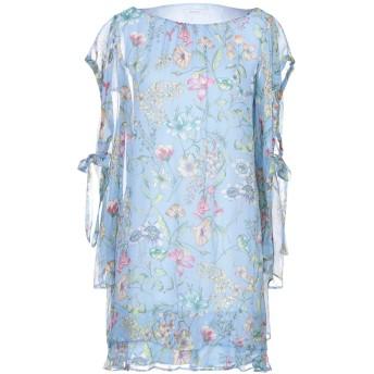 《セール開催中》I BLUES レディース ミニワンピース&ドレス スカイブルー 40 シルク 100%