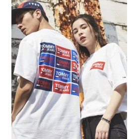 (TOMMY JEANS/トミージーンズ)リピートロゴTシャツ/メンズ ホワイト